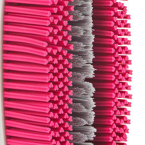 Kleeneze® KL078957EU7 2 in 1 Rubber Head Scrubbing Brush | Carry Handle for Easy Use | Cleans Dishes Quickly | Pink/Grey Thumbnail 9