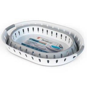 Beldray® LA079299EU7 Space-Saving Collapsible Laundry Hamper | 36 Litre | Folds Easily | Includes Ventilation Holes | Grey/White Thumbnail 4