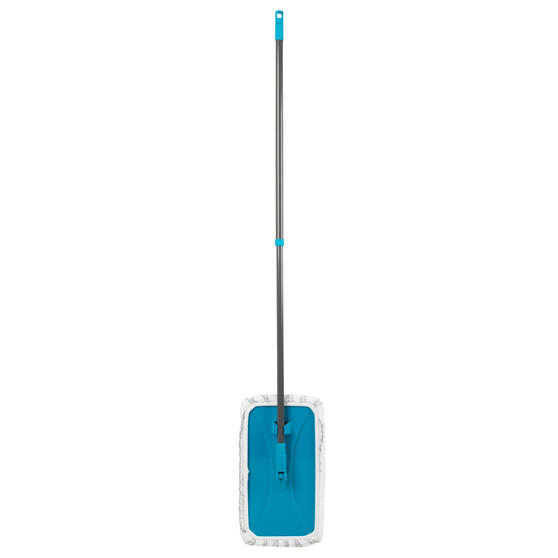 Beldray® Speed Clean Extra Wide Flat Head Mop | Extendable Pole | Machine Washable Microfibre Head | Turquoise Thumbnail 1