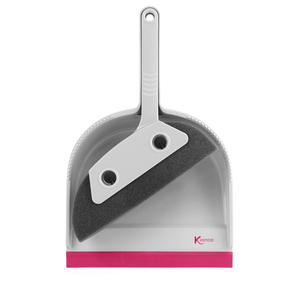 Kleeneze® KL071576EU7 Pet Foam Dustpan and Brush | Ideal for Families with Pets | Pink/Grey Thumbnail 1