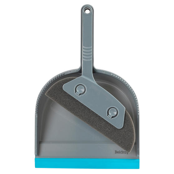 Beldray® LA071576EU7 Pet Plus Foam Dustpan and Brush | Ideal for Families with Pets | Turquoise/Grey