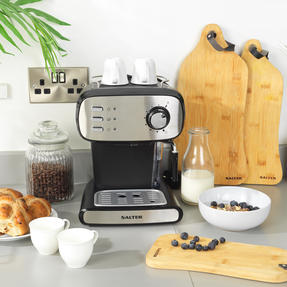 Salter® EK4369 Caffé Barista Pro Espresso Maker | 15-Bar Pressure Pump | Makes 2 Cups at Once | Includes Milk Frothing Wand | Durable Stainless Steel Filter Thumbnail 8