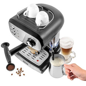 Salter® EK4369 Caffé Barista Pro Espresso Maker | 15-Bar Pressure Pump | Makes 2 Cups at Once | Includes Milk Frothing Wand | Durable Stainless Steel Filter Thumbnail 9