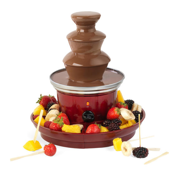 Giles & Posner® EK3428G Electric Chocolate Fountain with Fruit/Party Food Tray a