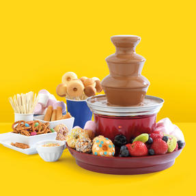 Giles & Posner® EK3428G Electric Chocolate Fountain with Fruit/Party Food Tray and 100 Bamboo Skewers 3-Tier 90 W  Red Thumbnail 3