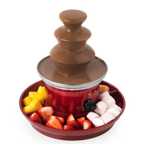Giles & Posner® EK3428G Electric Chocolate Fountain with Fruit/Party Food Tray and 100 Bamboo Skewers 3-Tier 90 W  Red Thumbnail 6