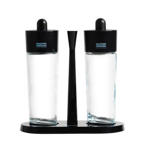 Kuhn Rikon 31733 Glass Salt and Pepper Set | Glass Body | Easy Removable Refill Lid | Carry Tray Thumbnail 2