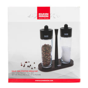 Kuhn Rikon 31733 Glass Salt and Pepper Set | Glass Body | Easy Removable Refill Lid | Carry Tray Thumbnail 7