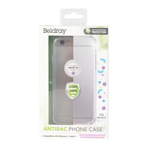 Beldray® EE5971CDUSTKEU7 Antibac iPhone Phone Case | Antibacterial Plastic | Compatible with iPhone 6/7/8 | Reduces Bacterial Growth Thumbnail 1
