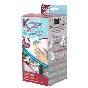 Kleeneze® KL080899EU7 Magic Eraser Sheets | 16 Pieces | Removes Tough Stains in Kitchens and Bathrooms | Clean Without Chemicals Thumbnail 7