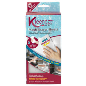 Kleeneze® KL080899EU7 Magic Eraser Sheets | 16 Pieces | Removes Tough Stains in Kitchens and Bathrooms | Clean Without Chemicals Thumbnail 8