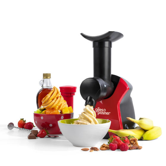 Giles & Posner® EK4002 Frozen Dessert Maker   250 W   Quick and Easy to Use   Create Delicious and Healthy Desserts