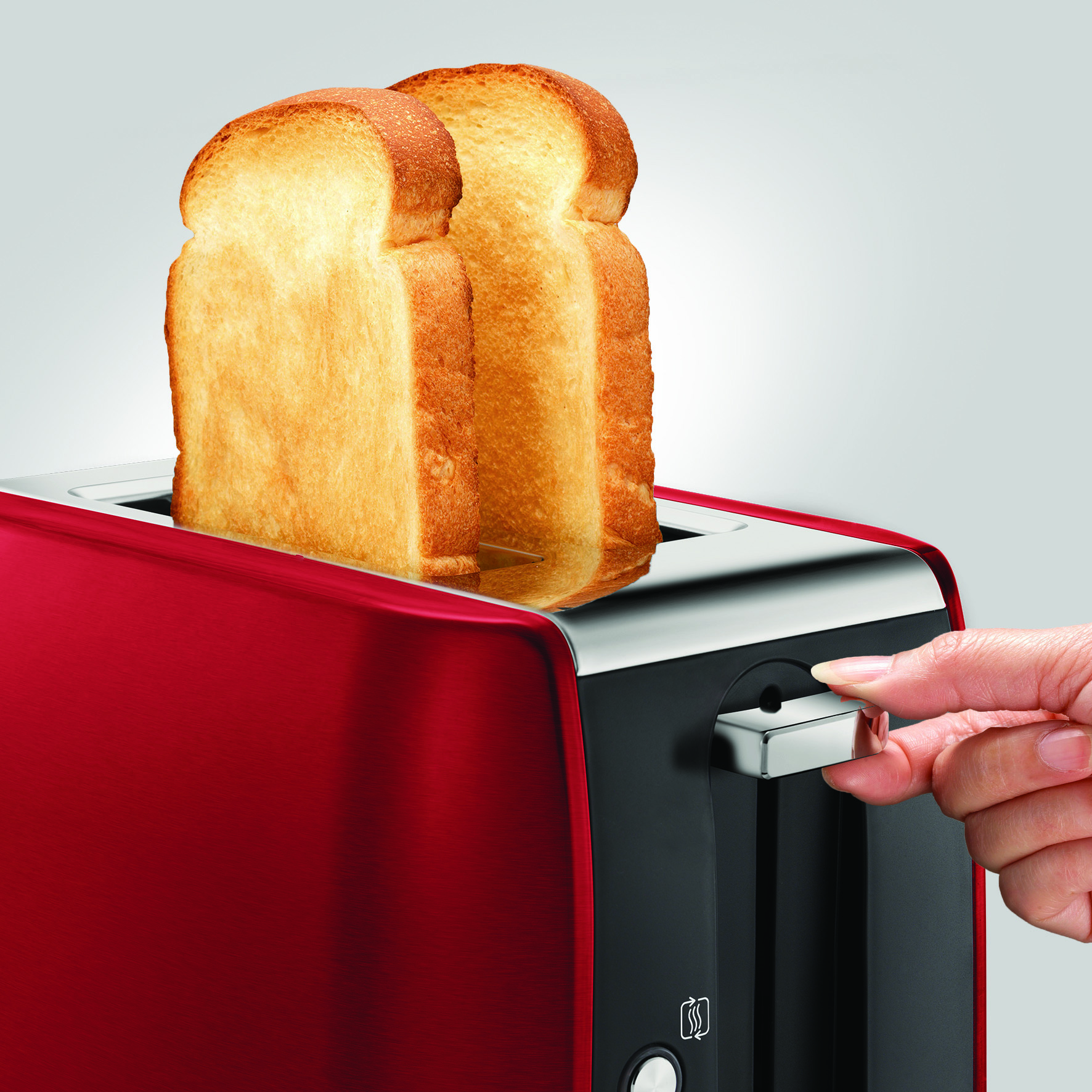 Morphy Richards 222060 Stainless Steel Equip 2-Slice Toaster | Red Thumbnail 2