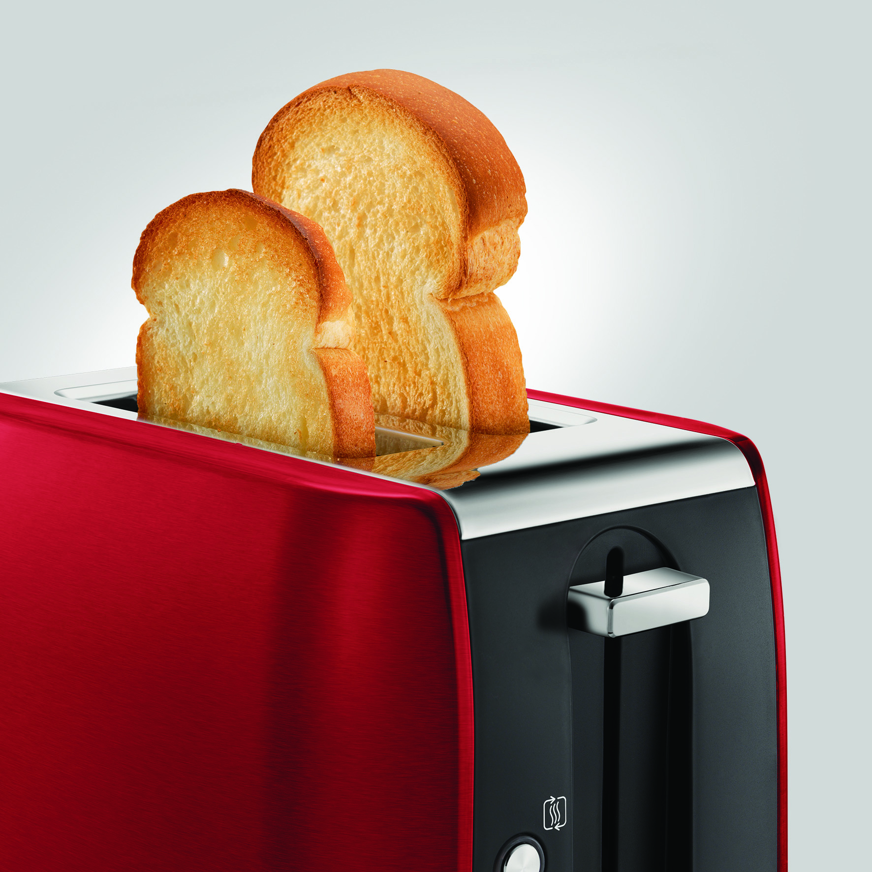 Morphy Richards 222060 Stainless Steel Equip 2-Slice Toaster | Red Thumbnail 3