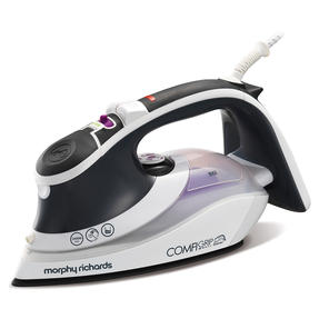 Morphy Richards 301022 Comfigrip Steam Iron with Ceramic Soleplate | 2400 W | 350 ml Water Tank | Pink and Grey Thumbnail 1