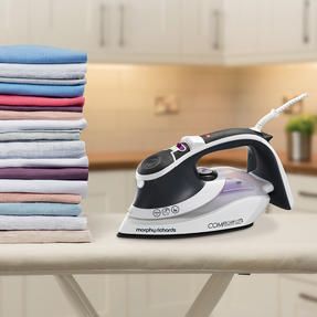 Morphy Richards 301022 Comfigrip Steam Iron with Ceramic Soleplate | 2400 W | 350 ml Water Tank | Pink and Grey Thumbnail 5