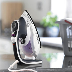 Morphy Richards 301022 Comfigrip Steam Iron with Ceramic Soleplate | 2400 W | 350 ml Water Tank | Pink and Grey Thumbnail 6