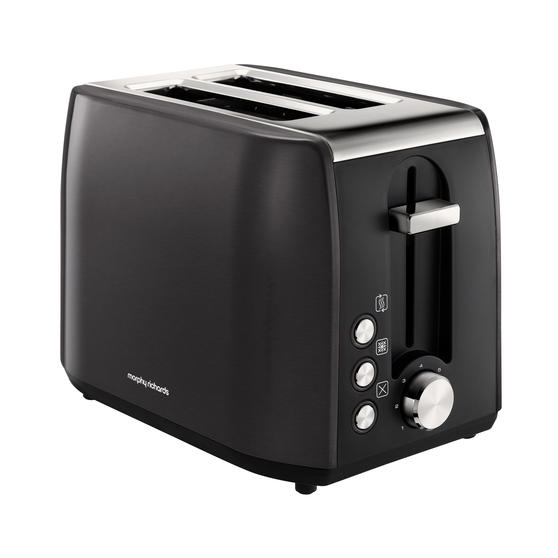 Morphy Richards 222058 Stainless Steel Equip 2-Slice Toaster | Black