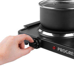 Progress® EK4399P Twin Hot Plate | Dual Temperature Controls | Carry Handles | Portable and Compact | 1000 W and 1500 W Hobs Thumbnail 2