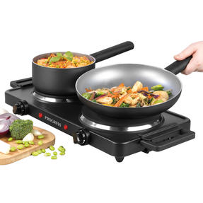 Progress® EK4399P Twin Hot Plate | Dual Temperature Controls | Carry Handles | Portable and Compact | 1000 W and 1500 W Hobs Thumbnail 3