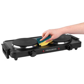 Progress® EK4399P Twin Hot Plate | Dual Temperature Controls | Carry Handles | Portable and Compact | 1000 W and 1500 W Hobs Thumbnail 6