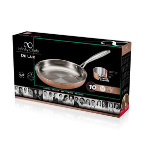 Bergner BGIC-3662 Infinity Chefs De Lux 28 cm Copper Tri-Ply Fry Pan | Stainless Steel | Copper Hammer Finish Thumbnail 4