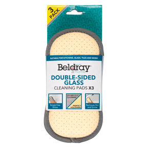 Beldray® LA077639EU7 3-Pack Double-Sided Glass Cleaning Pads | Streak-Free Shine | Ideal for Cleaning Kitchens, Bathrooms, Car Interiors and More Thumbnail 1