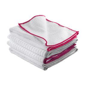 Kleeneze KL077714EU7 Microfibre Antibac Dish Cloths| Super Absorbent| Pack of 4| Pink Thumbnail 4
