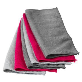 Kleeneze® KL077738EU7 Microfibre Antibac Dish Cloths| Super Absorbent| Pack of 6| Grey/Pink Thumbnail 5