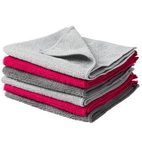 Kleeneze® KL077738EU7 Microfibre Antibac Dish Cloths| Super Absorbent| Pack of 6| Grey/Pink Thumbnail 6