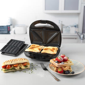 Progress® EK3774P 3 in 1 Snack Maker | 850 W | Removable Non-Stick Cooking Plates| Easy to Clean | Cool Touch Handles Thumbnail 2
