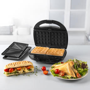 Progress® EK3774P 3 in 1 Snack Maker | 850 W | Removable Non-Stick Cooking Plates| Easy to Clean | Cool Touch Handles Thumbnail 3