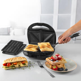 Progress® EK3774P 3 in 1 Snack Maker | 850 W | Removable Non-Stick Cooking Plates| Easy to Clean | Cool Touch Handles Thumbnail 4
