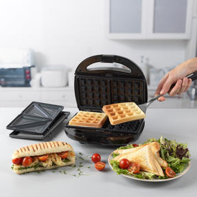 Progress® EK3774P 3 in 1 Snack Maker | 850 W | Removable Non-Stick Cooking Plates| Easy to Clean | Cool Touch Handles Thumbnail 5