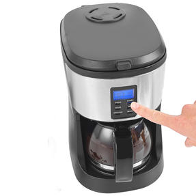 Salter® EK4368 Caffe Bean to Jug Coffee Maker | Perfect for Fresh Coffee | Integrated Grinding Blade | Programmable Timer | Auto Shut-Off Thumbnail 7