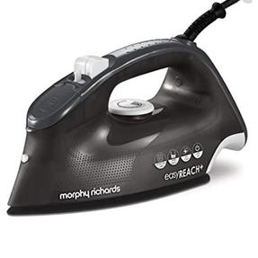 Morphy Richards 300286 Breeze Steam Iron with Ceramic Soleplate | 2400 W | 350 ml Water Tank | Black Thumbnail 1
