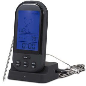 Bergner BGMP-9053 Digital Meat Cooking Thermometer | LED Back Light | Variable Meat Settings | Portable Thumbnail 1