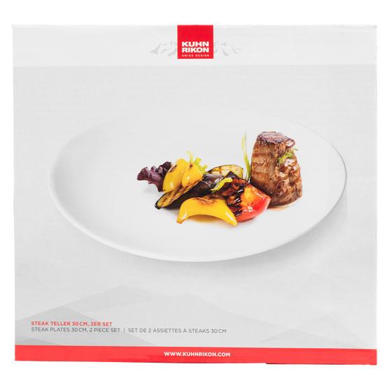 Kuhn Rikon VK1000 Large 2-Piece Steak Dinner Plates | 30 cm | Professional Quality