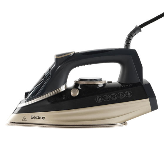 Beldray® BEL0820PL Ultra Ceramic Steam Iron with Dual Soleplate Technology, 3100 W, 300 ml, Platinum Edition