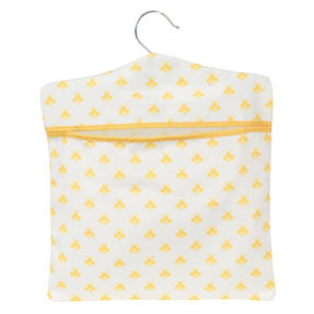 Kleeneze® KL081575EU7 Busy Bee Hang On The Line Peg Bag | Easy Hanging Hook | Holds Up To 50 Pegs | 33 x 30cm | Yellow/White Thumbnail 2