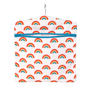 Beldray® LA084415EU7 Rainbow Hang On The Line Peg Bag | Easy Hanging Hook | Holds Up To 50 Pegs | 33 x 30cm | Turqouise/White/Red Thumbnail 2