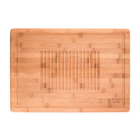 Russell Hobbs® RH00380EU Bamboo Meat Carving Board | Ideal For Slicing & Serving, 50.8 x 35 cm