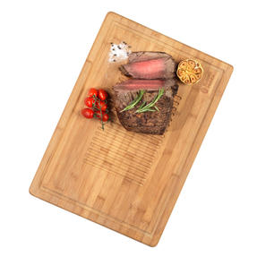 Russell Hobbs® RH00380EU Bamboo Meat Carving Board | Ideal For Slicing & Serving, 50.8 x 35 cm Thumbnail 2