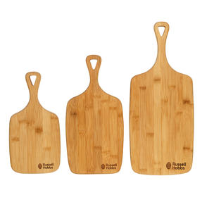 Russell Hobbs® RH01971 3 Piece Bamboo Paddle Chopping Board Set   Strong and Durable   Protects Kitchen Worktops   Reversible Thumbnail 2