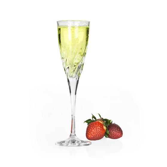 RCR 25614020106 Luxion Crystal Glassware Trix Champagne Flutes, Set Of 6