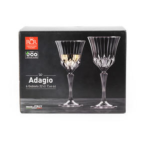 RCR 25747020106 Adagio Crystal Wine Glasses, Set of 6 Thumbnail 4