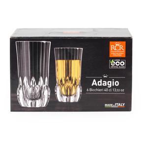 RCR 25934020206 Adagio Crystal Hi-Ball Tumblers Glasses, Set of 6 Thumbnail 3