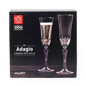 RCR 25948020106 Luxion Crystal Glassware Adagio Champagne Flutes, Set Of 6 Thumbnail 3