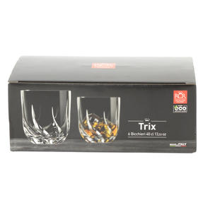 RCR 25954020106 Trix Crystal Short Whisky Water Tumbler Glasses, Set of 6 Thumbnail 7
