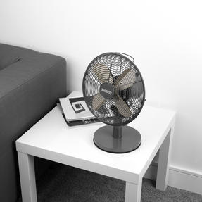 """Beldray® EH3266PL 10"""" Desk Fan with 3 Speed Settings and Adjustable Head   30 W   Ideal for Homes/Offices/Personal Workspace   Platinum Thumbnail 6"""